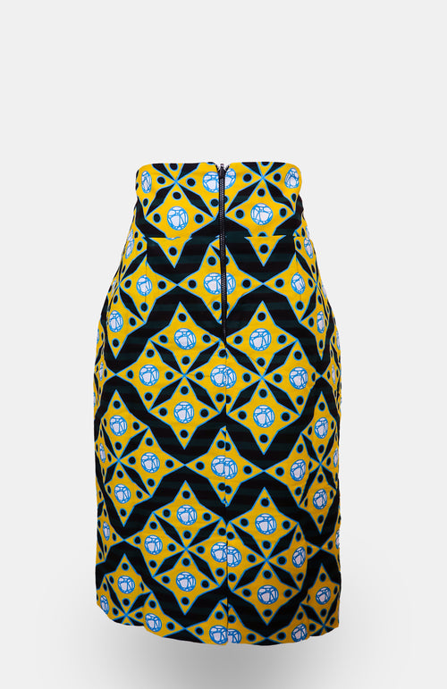 High-waisted Mianu Pencil Skirt African Print - African Wax - Ankara - Chinero Nnamani