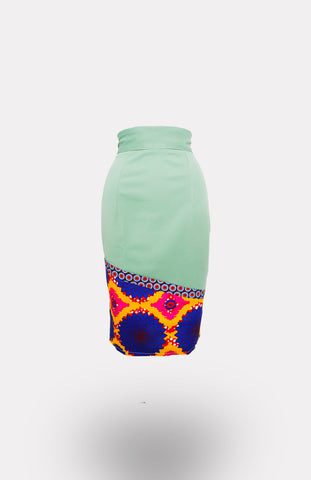 High-waisted Ikeogu Pencil Skirt African Print