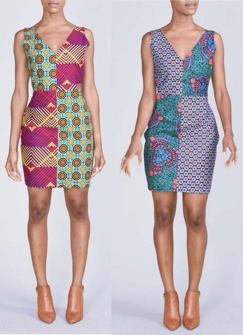 Reversible Patchwork Dress