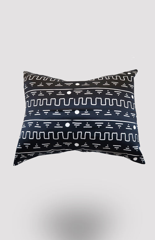 Black Eke Satin Pillowcase - African Wax - Ankara - Chinero Nnamani