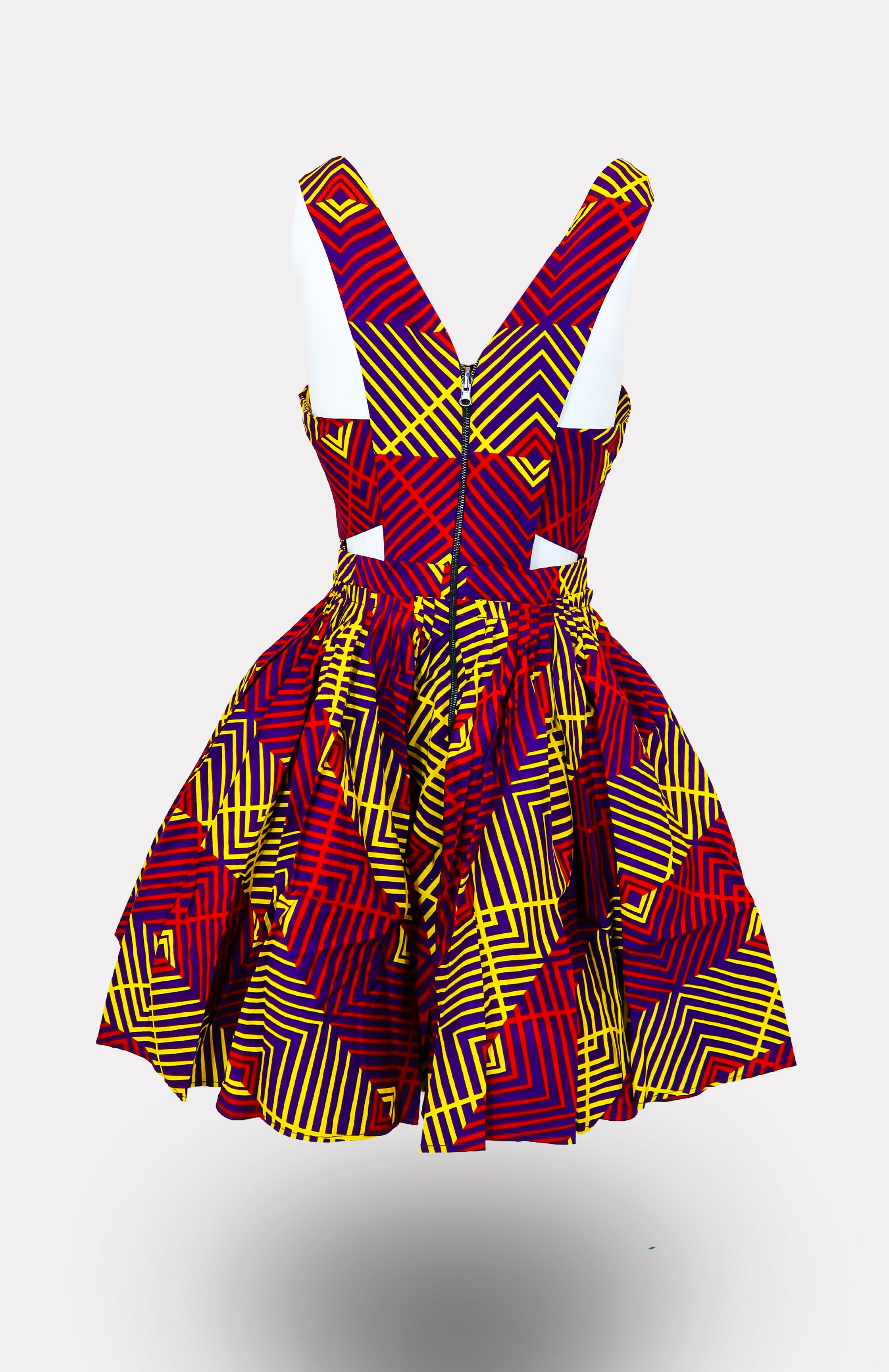Soludo Mini Tennis Dress - African Wax - Ankara - Chinero Nnamani