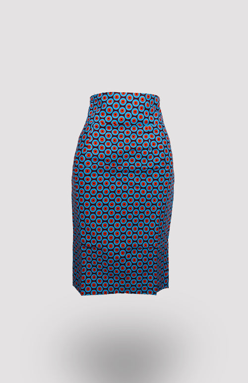 High-waisted Taj Pencil Skirt African Print - African Wax - Ankara - Chinero Nnamani