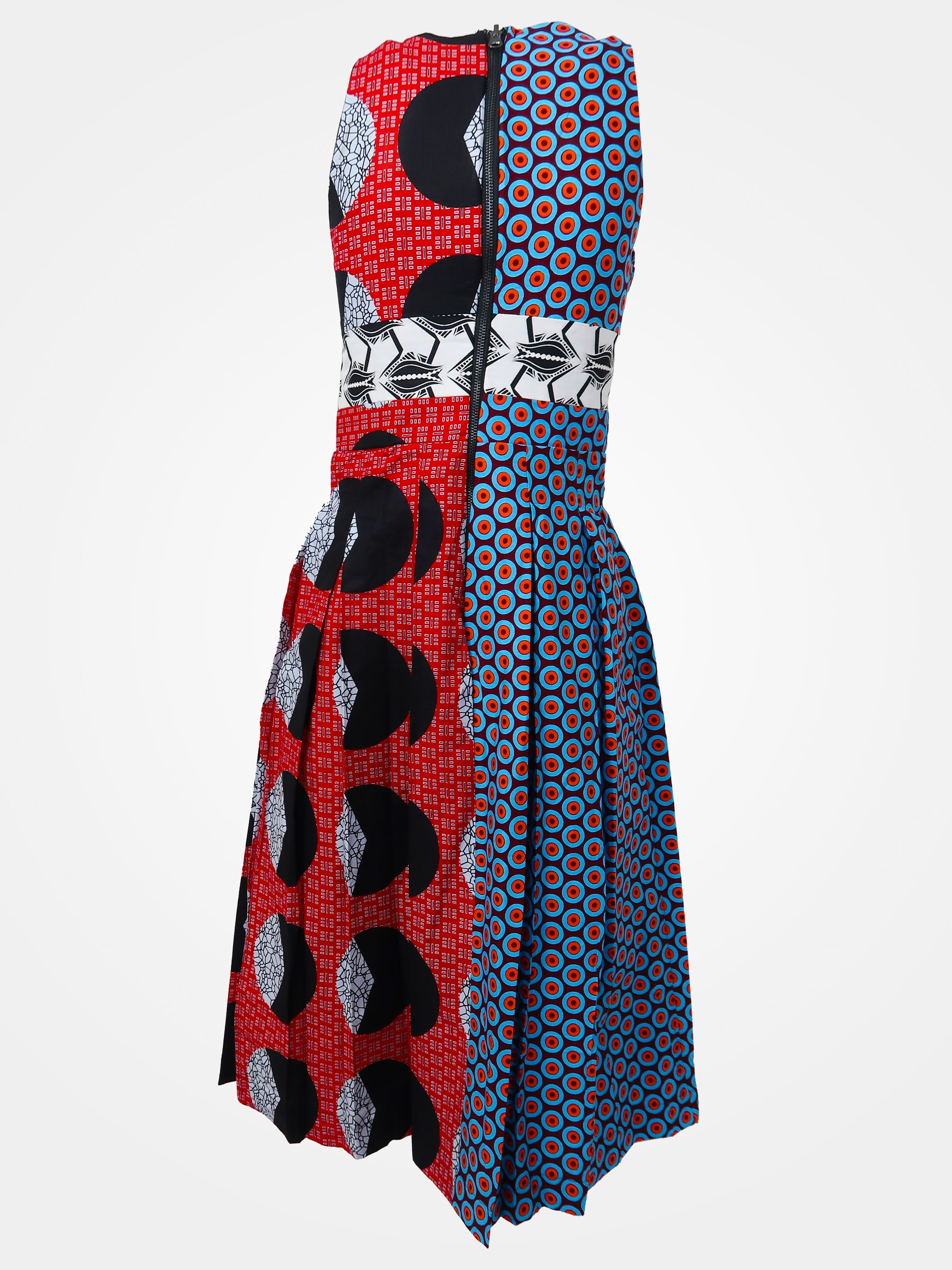 Two-Faced Midi Dress - African Wax - Ankara - Chinero Nnamani
