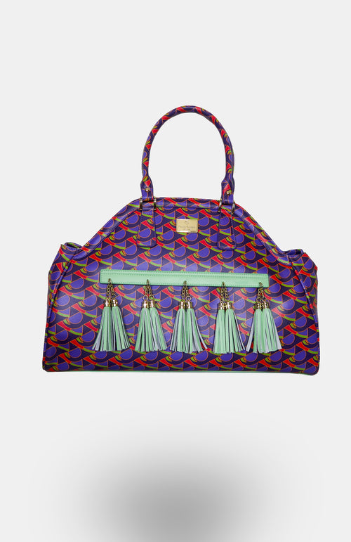 Udo-Wensi African Print Leather Shoulder Bag - African Wax - Ankara - Chinero Nnamani