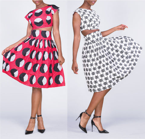 High-waisted Naetochu Pencil Skirt African Print