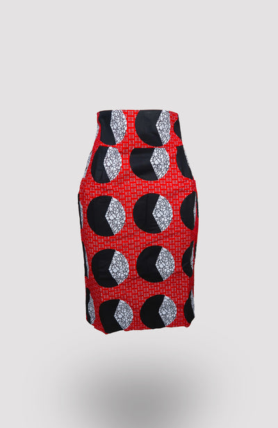 High-waisted Une Pencil Skirt African Print - African Wax - Ankara - Chinero Nnamani