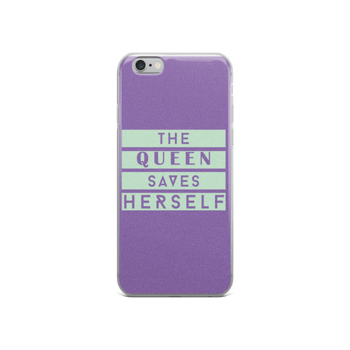The Queen Saves Herself iPhone Case - African Wax - Ankara - Chinero Nnamani