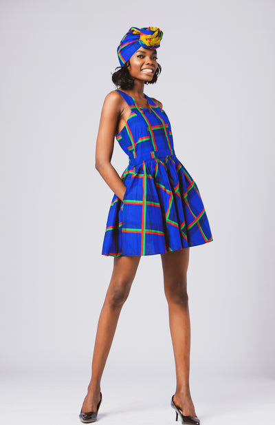 Ife Mini Tennis Dress African Print - African Wax - Ankara - Chinero Nnamani