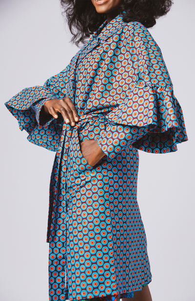 Taj Royal Sleeves Jacket African Print - African Wax - Ankara - Chinero Nnamani