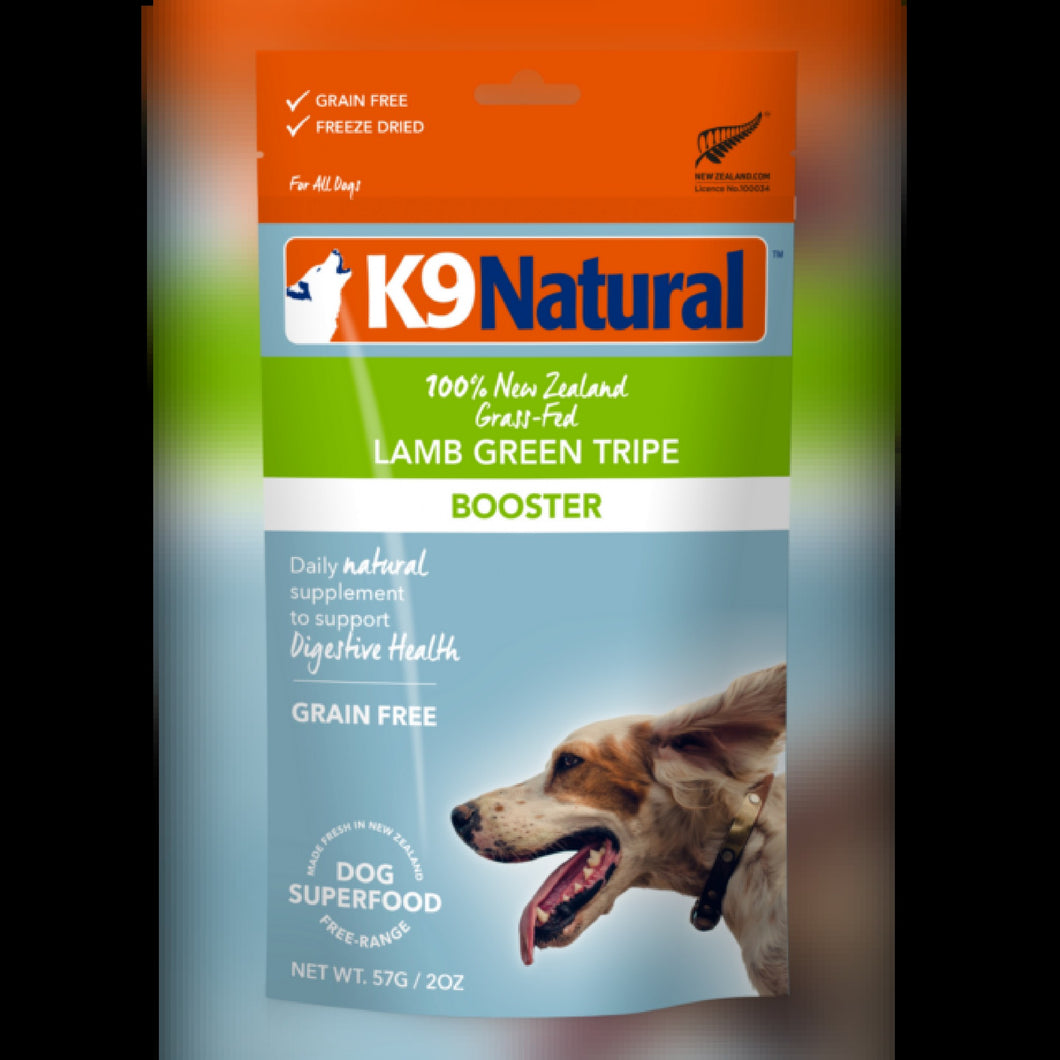 K9 NATURAL TOPPER - LAMB GREEN TRIPE - Chubbs Bars, Freeze Dried Food - pet shampoo, Woofur - Chubbs Bars Company, Woofur Natural Pet Products - Chubbs Bars Canada