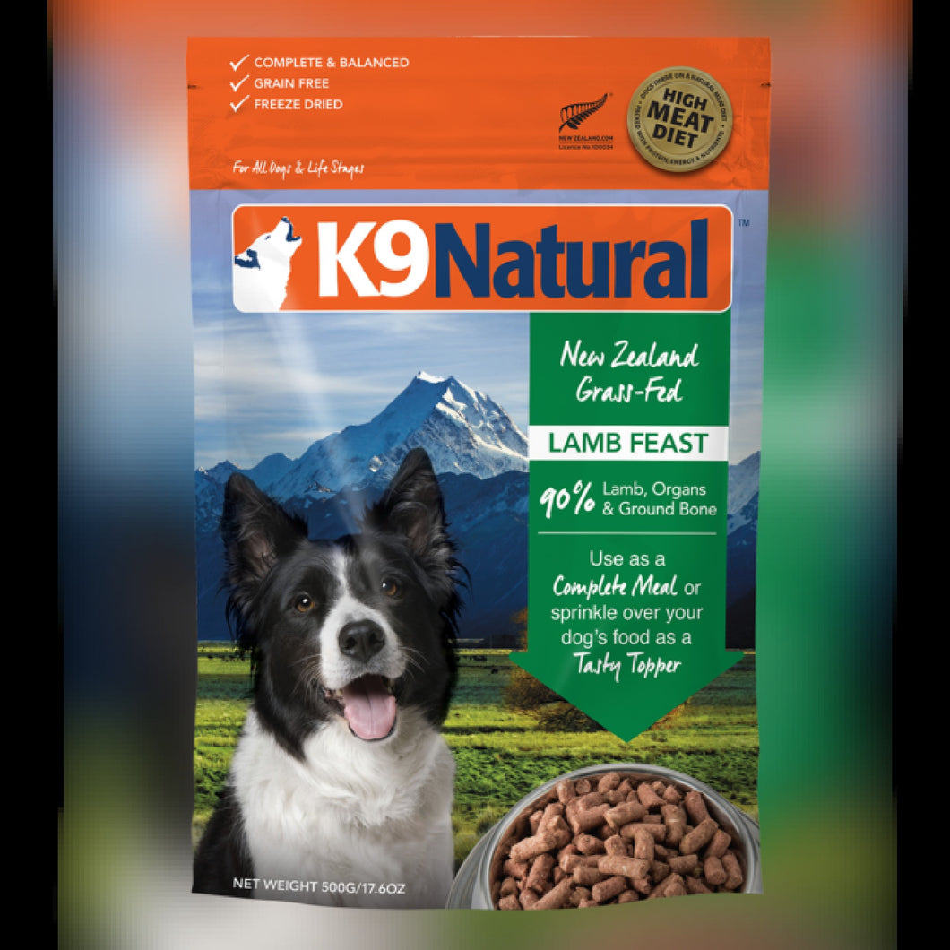 K9 NATURAL FD FOOD - LAMB FEAST - Chubbs Bars, Freeze Dried Food - pet shampoo, Woofur - Chubbs Bars Company, Woofur Natural Pet Products - Chubbs Bars Canada