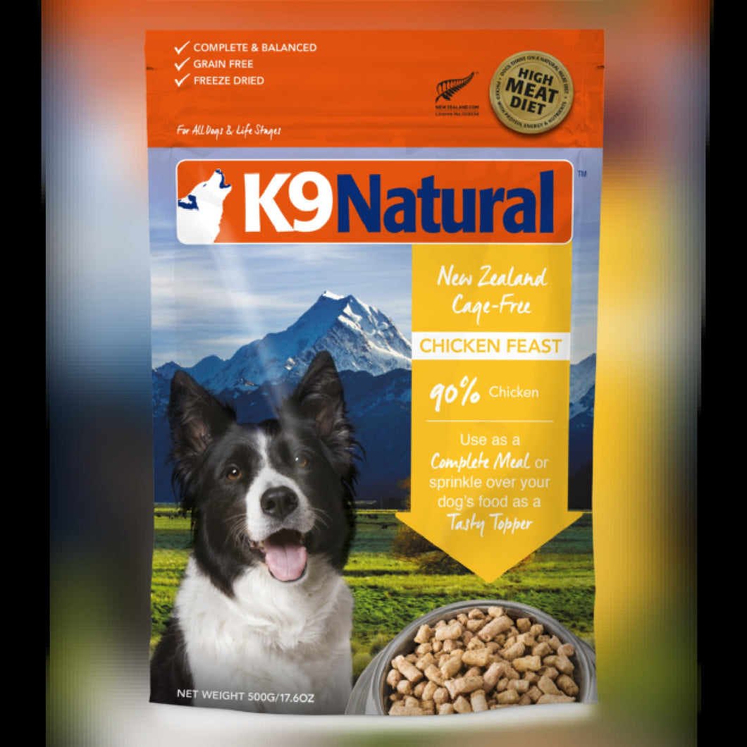 K9 NATURAL FD FOOD - CHICKEN FEAST - Chubbs Bars, Freeze Dried Food - pet shampoo, Woofur - Chubbs Bars Company, Woofur Natural Pet Products - Chubbs Bars Canada
