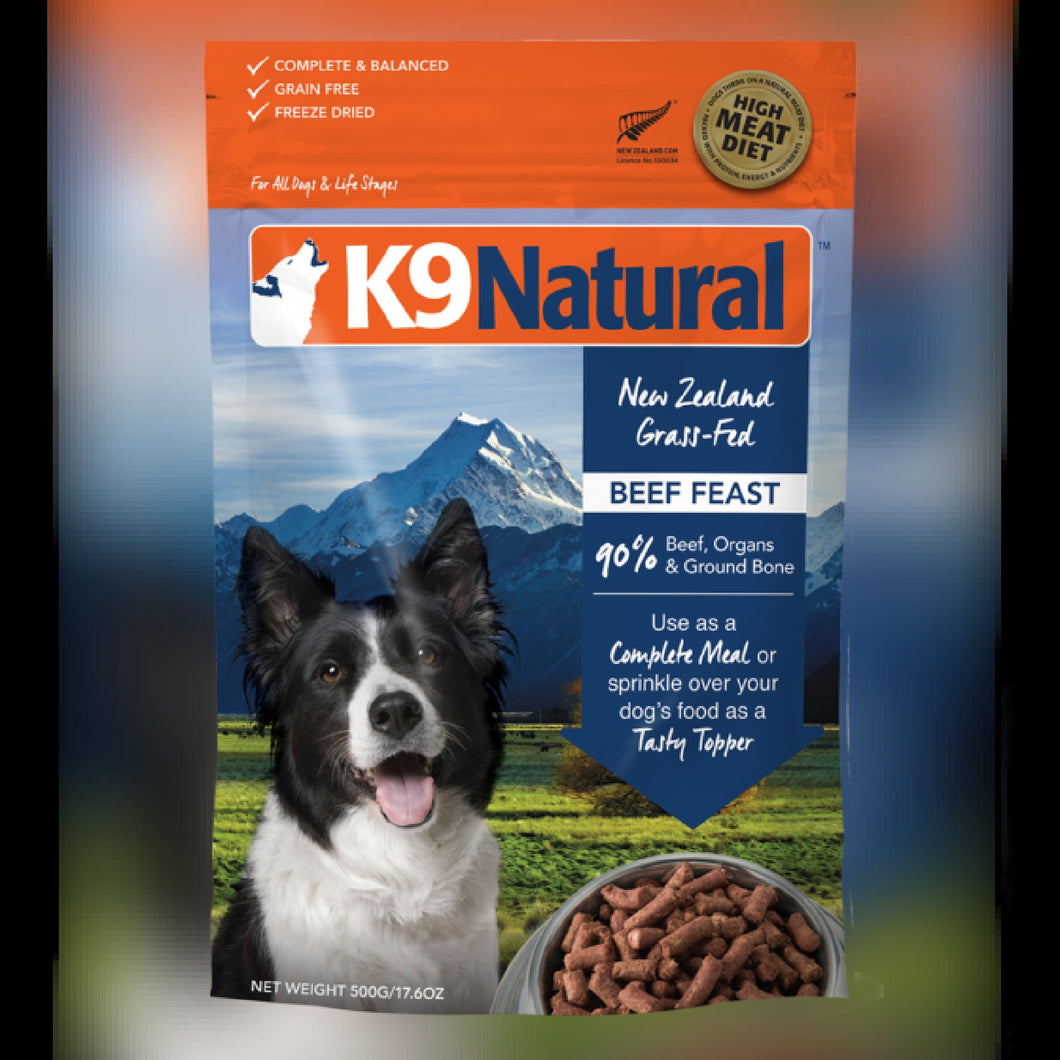 K9 NATURAL FD FOOD - BEEF FEAST - Chubbs Bars, Freeze Dried Food - pet shampoo, Woofur - Chubbs Bars Company, Woofur Natural Pet Products - Chubbs Bars Canada