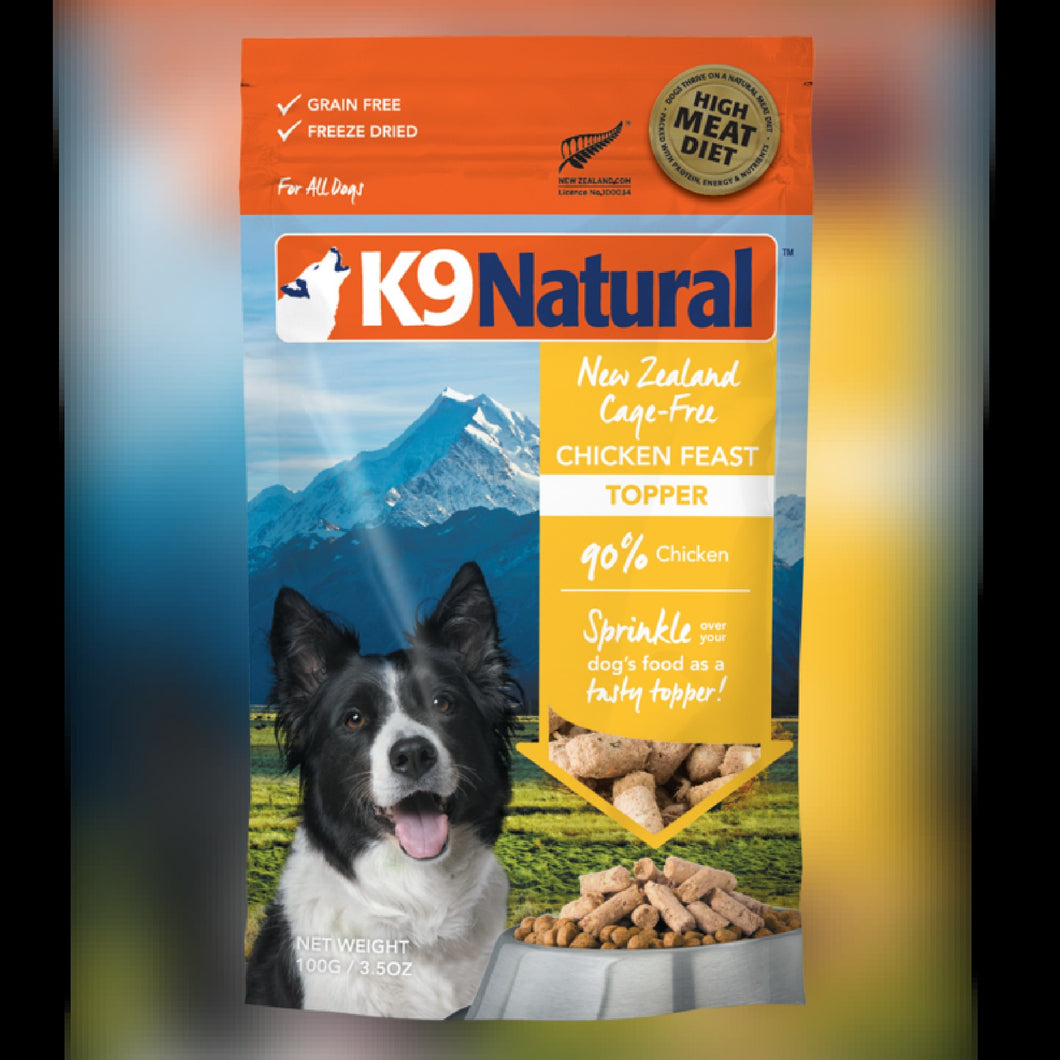 K9 NATURAL TOPPER - CHICKEN FEAST - Chubbs Bars, Freeze Dried Food - pet shampoo, Woofur - Chubbs Bars Company, Woofur Natural Pet Products - Chubbs Bars Canada