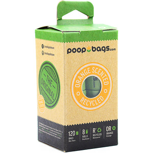Poop Bags - 120 Count Eco 8 Roll Pack Orange - Chubbs Bars, Supplements - pet shampoo, Woofur - Chubbs Bars Company, Woofur Natural Pet Products - Chubbs Bars Canada