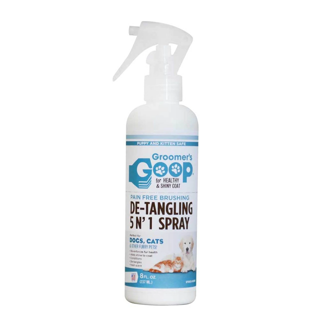 Groomer's Goop - 5 in 1 De-tangling Spray 8 fl oz - Chubbs Bars,  - pet shampoo, Groomer's Goop - Chubbs Bars Company, Woofur Natural Pet Products - Chubbs Bars Canada