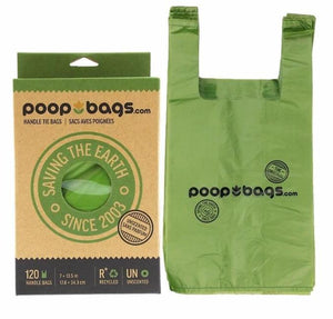 Poop Bags - Handle Tie Bags 120 Count - Chubbs Bars, Supplements - pet shampoo, Woofur - Chubbs Bars Company, Woofur Natural Pet Products - Chubbs Bars Canada
