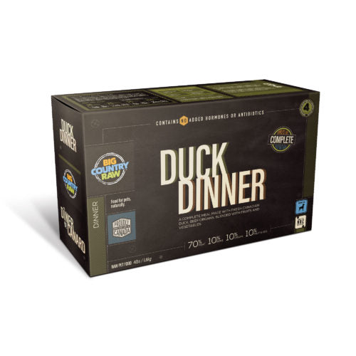 BCR - DUCK DINNER - 4LB - Chubbs Bars, Frozen Raw Food - pet shampoo, Woofur - Chubbs Bars Company, Woofur Natural Pet Products - Chubbs Bars Canada