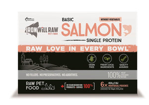 IRON WILL RAW - BASIC SALMON - 6LB - Chubbs Bars, Frozen Raw Food - pet shampoo, Woofur - Chubbs Bars Company, Woofur Natural Pet Products - Chubbs Bars Canada