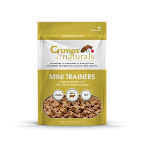 Crumps' Naturals Treats - CRUMPS Mini Trainers FD Beef Liver - Woofur Natural Pet Products