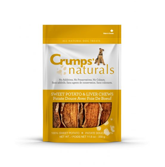 Crumps' Naturals Treats - CRUMPS Sweet Potato/Liver Chew - Chubbs Bars, Treats - pet shampoo, Woofur - Chubbs Bars Company, Woofur Natural Pet Products - Chubbs Bars Canada