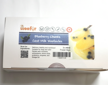 Load image into Gallery viewer, Woofsicle - Blueberry Chunks Goat Milk Woofsicle - Chubbs Bars,  - pet shampoo, Woofur Natural Pet Products - Chubbs Bars Company, Woofur Natural Pet Products - Chubbs Bars Canada