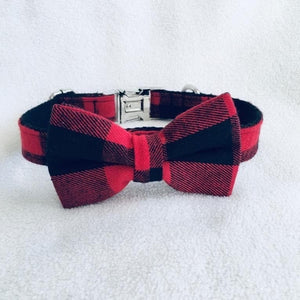 LWD - Black & Red Plaid Collar - Chubbs Bars,  - pet shampoo, Woofur Natural Pet Products - Chubbs Bars Company, Woofur Natural Pet Products - Chubbs Bars Canada