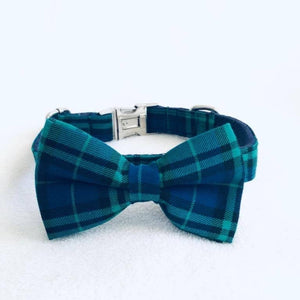 LWD - Blue & Green Plaid Collar - Chubbs Bars,  - pet shampoo, Woofur Natural Pet Products - Chubbs Bars Company, Woofur Natural Pet Products - Chubbs Bars Canada