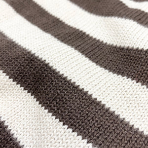 LWD - Striped Sweater (Cream/Brown)