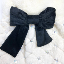 Load image into Gallery viewer, LWD - White Fur Jacket with Black Bow