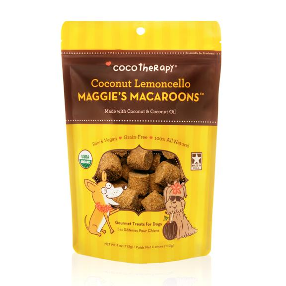 Maggie's Macaroons Treats -  Coconut Lemoncello - Chubbs Bars, Treats - pet shampoo, Woofur - Chubbs Bars Company, Woofur Natural Pet Products - Chubbs Bars Canada