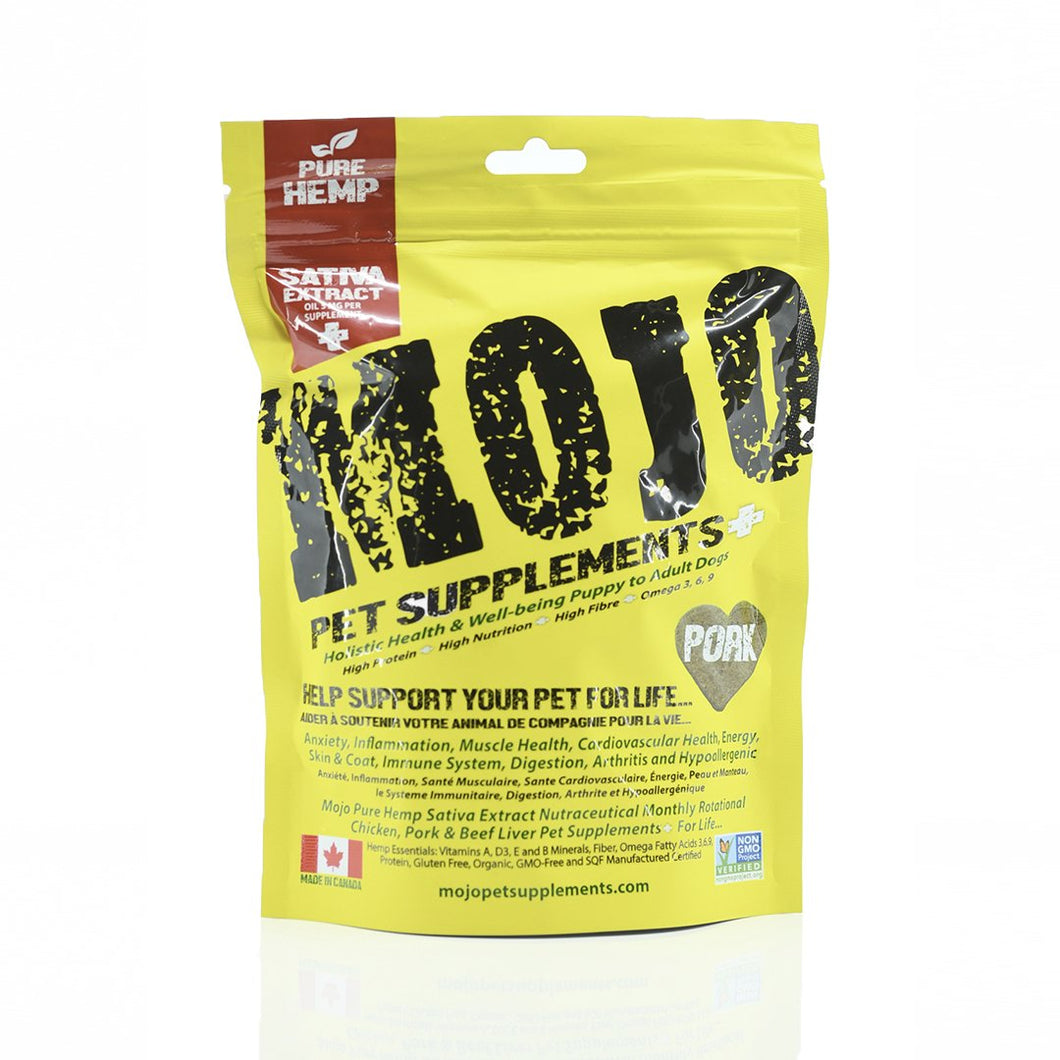 Mojo Pork Treats - 192g - Chubbs Bars,  - pet shampoo, Woofur Natural Pet Products - Chubbs Bars Company, Woofur Natural Pet Products - Chubbs Bars Canada