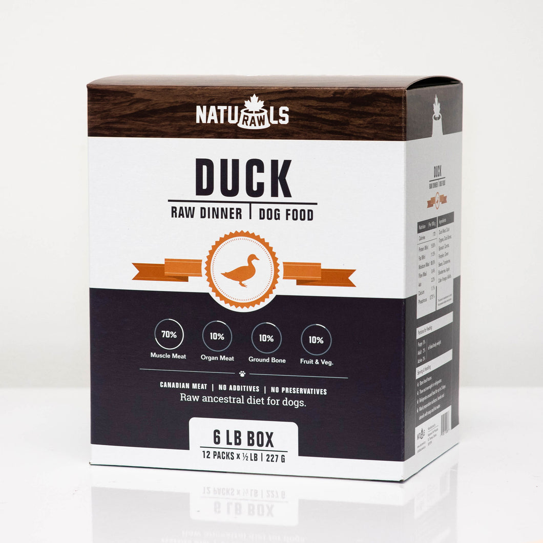 NATURAWLS - DUCK DINNER - Chubbs Bars, Frozen Raw Food - pet shampoo, Woofur - Chubbs Bars Company, Woofur Natural Pet Products - Chubbs Bars Canada