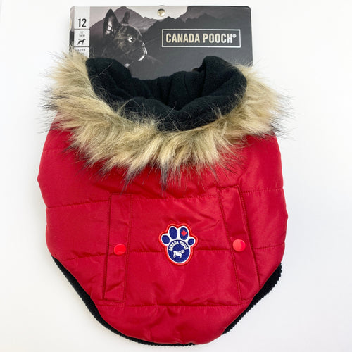 Canada Pooch - North Pole Parka (Red)
