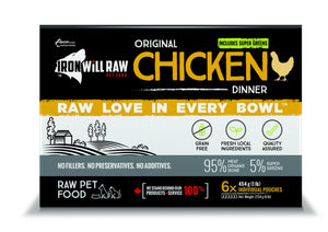 IRON WILL RAW - ORIGINAL CHICKEN - 6LB - Chubbs Bars, Frozen Raw Food - pet shampoo, Woofur - Chubbs Bars Company, Woofur Natural Pet Products - Chubbs Bars Canada