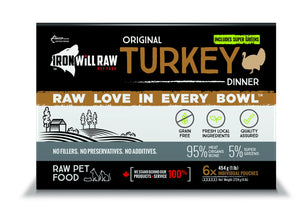 IRON WILL RAW - ORIGINAL TURKEY - 6LB - Chubbs Bars, Frozen Raw Food - pet shampoo, Woofur - Chubbs Bars Company, Woofur Natural Pet Products - Chubbs Bars Canada