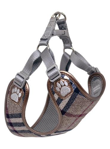 Pretty Paw - Scotland Taupe Harness - Chubbs Bars, Treats - pet shampoo, Woofur - Chubbs Bars Company, Woofur Natural Pet Products - Chubbs Bars Canada