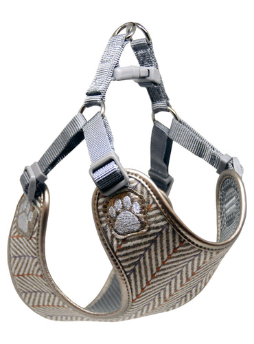 Pretty Paw - Verona Herringbone Harness - Chubbs Bars, Treats - pet shampoo, Woofur - Chubbs Bars Company, Woofur Natural Pet Products - Chubbs Bars Canada