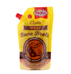 Primal Frozen - Beef Bone Broth - Woofur Natural Pet Products