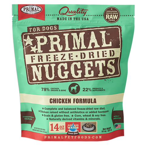Primal Freeze Dried - Chicken Formula - Chubbs Bars, Freeze Dried Food - pet shampoo, Woofur - Chubbs Bars Company, Woofur Natural Pet Products - Chubbs Bars Canada