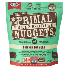 Primal Freeze Dried - Chicken Formula - Woofur Natural Pet Products
