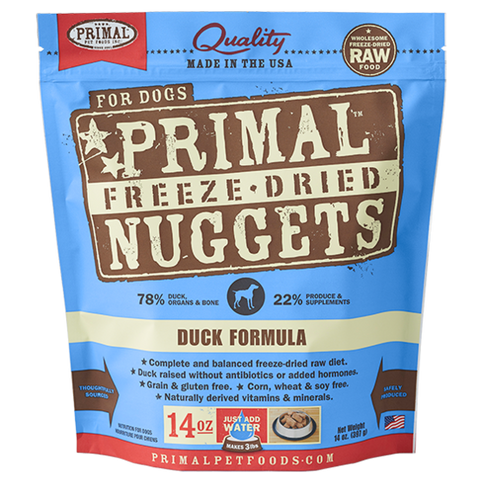 Primal Freeze Dried - Duck Formula - Chubbs Bars, Freeze Dried Food - pet shampoo, Woofur - Chubbs Bars Company, Woofur Natural Pet Products - Chubbs Bars Canada