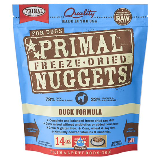 Primal Freeze Dried - Duck Formula - 14oz - Chubbs Bars, Freeze Dried Food - pet shampoo, Woofur - Chubbs Bars Company, Woofur Natural Pet Products - Chubbs Bars Canada