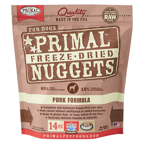 Primal Freeze Dried - Pork Formula - Woofur Natural Pet Products