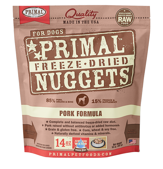 Primal Freeze Dried - Pork Formula - 14oz - Chubbs Bars, Freeze Dried Food - pet shampoo, Woofur - Chubbs Bars Company, Woofur Natural Pet Products - Chubbs Bars Canada
