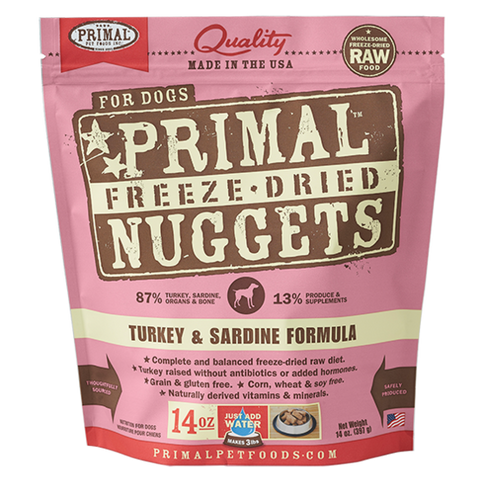 Primal Freeze Dried - Turkey & Sardine - Chubbs Bars, Freeze Dried Food - pet shampoo, Woofur - Chubbs Bars Company, Woofur Natural Pet Products - Chubbs Bars Canada