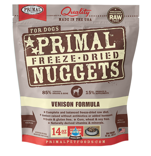 Primal Freeze Dried - Venison Formula - 14oz - Woofur Natural Pet Products