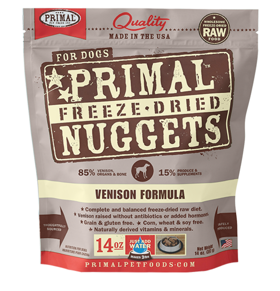 Primal Freeze Dried - Venison Formula - 14oz - Chubbs Bars, Freeze Dried Food - pet shampoo, Woofur - Chubbs Bars Company, Woofur Natural Pet Products - Chubbs Bars Canada