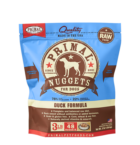 Primal Frozen - Duck - 3lbs - Woofur Natural Pet Products