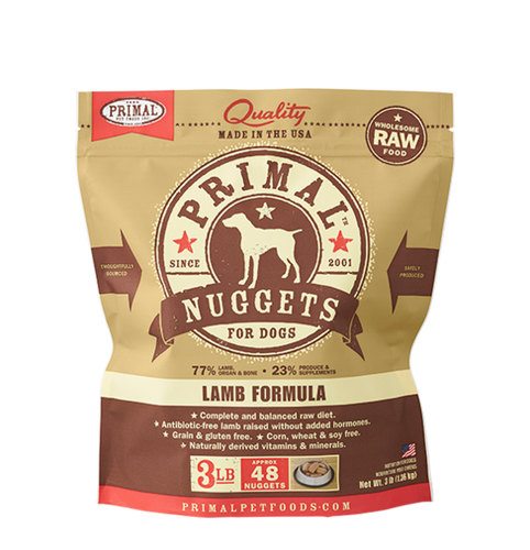 Primal Frozen - Lamb - 3lbs - Woofur Natural Pet Products